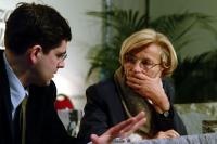 Daniele Capezzone ed Emma Bonino (al 6° Congresso del PR).