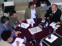 Trasmissione radiofonica con Umar Khanbiev e Olivier Dupuis.