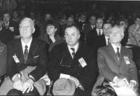 32° congresso PR II sessione. Seduti in platea: Michele Cifarelli e Livia Turco (entrambi della direzione PCI),   (BN)