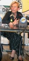 Emma Bonino, durante la conferenza stampa di chiusura della campagna elettorale per le europee.
