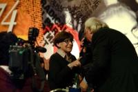 Franca Valeri e Marco Pannella si incontrano in occasione della celebrazione del trentennale della vittoria del referendum sul divorzio. Altre digital