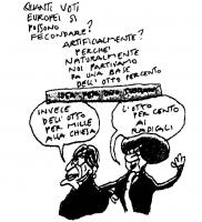 """VIGNETTA Didascalia: """"Quanti europei si possono fecondare artificialmente? Perchè noi naturalmente partivamo dall'otto per cento"""". Marco Pannella: """"In"""