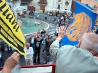 Corteo su camion da porta Pia a piazza Cavour, il giorno prima della consegna alla Cassazione delle firme ai quesiti sulla fecondazione assistita. A p