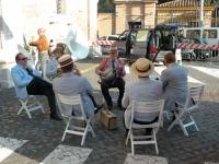 Corteo su camion da porta Pia a piazza Cavour, il giorno prima della consegna alla Cassazione delle firme ai quesiti sulla fecondazione assistita. La
