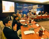 Sessione costitutiva del Congresso Mondiale per la libertà di ricerca scientifica, all'hotel Ergife. In primo piano: Daniele Capezzone