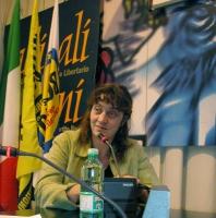 """Mylène Sauloy, regista del video """"Massacro in Cecenia: il video che accusa"""", presente al Primo Congresso dell'Associazione Radicale Gaetano Salvemini"""