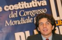 Marco Cappato alla Sessione Costitutiva del Congresso Mondiale per la Libertà di Ricerca Scientifica.
