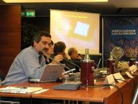 Luca Gianaroli (Direttore Scientifico Sismer), in primo piano, nel corso della Sessione Costitutiva del Congresso Mondiale per la Libertà di Ricerca S