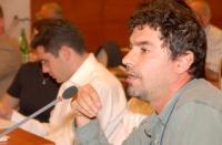 Guido Favia (Dept of MCA Biology University of Camerino) nel corso della Sessione Costitutiva del Congresso Mondiale per la Libertà di Ricerca Scienti
