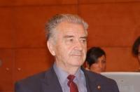 Teki Tartary (rappresentante dell'Accademia delle Scienze di Albania) in occasione della Sessione Costitutiva del Congresso Mondiale per la Libertà di