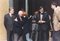 Quirinale. Incontro tra il presidente della Repubblica Scalfaro e una delegazione della Marcia delle Palme (per la moratoria delle esecuzioni capitali