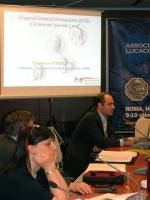 Sessione Costitutiva del Congresso Mondiale per la Libertà di Ricerca Scientifica. In primo piano: Marisa Jaconi - Biologa cellulare Università di Gin