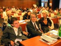 Alessandro Frezzato, Giuseppe Rippa e Giulia Cimi (?), assistono alla Sessione Costitutiva del Congresso Mondiale per la Libertà di Ricerca Scientific
