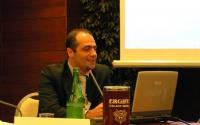 Francesco Fiorentino - Direttore Laboratorio Genoma - alla Sessione Costitutiva del Congresso Mondiale per la Libertà di Ricerca Scientifica.