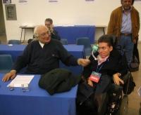 Marco Pannella e Alessandro Frezzato, al Terzo Congresso dei Radicali Italiani.