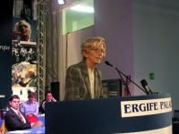 Emma Bonino alla tribuna del Terzo Congresso dei Radicali Italiani.