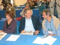 Marco Taradash (al centro), nella platea del Terzo Congresso dei Radicali Italiani.