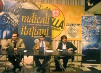Incontro dei giovani del Lymec con Daniele Capezzone, presso la sede di Torre Argentina. Al tavolo: Pietro Paganini (vicepresidente Lymec), Daniele Ca