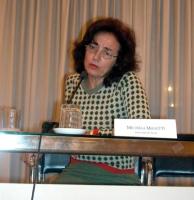 """Michela Manetti (dell'Università di Siena) partecipa al convegno """"L'ammissibilità dei referendum sulla fecondazione assistita""""."""