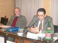"""Convegno: """"L'ammissibilità dei referendum sulla fecondazione assistita"""".  Sergio Panunzio (Università di Roma, Luiss) e Alfonso Di Giovine (Università"""