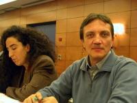 In primo piano: Antonio Cerrone, membro del Comitato dei Radicali Italiani. A sinistra: Antonella Casu.