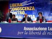Terzo Congresso dell'Associazione Luca Coscioni per la Libertà di Ricerca Scientifica. Nella foto, da sinistra: Maurizio Turco, Rocco Carbone, Alessan