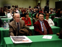Emanuele Severino (filosofo) ed Evandro Agazzi (filosofo della scienza, presidente dell'Académie internationale de Philosphie des Sciences) al Terzo C