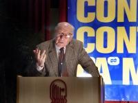 Emanuele Severino, alla tribuna del Terzo Congresso dell'Associazione Luca Coscioni.