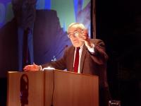 Angiolo Bandinelli alla tribuna del Terzo Congresso dell'Associazione Coscioni.