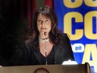 Filomena Gallo, presidente dell'associazione Amica cicogna, al Terzo Congresso dell'Associazione Coscioni.