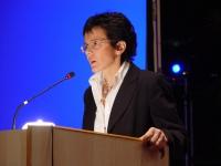 Elena Cattaneo (direttrice del Laboratorio di Biologia all'Università di Milano) al Terzo Congresso dell'Associazione Coscioni.