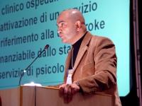 """Vittorio Alessandro Ferrari (autore del libro """"La tela di Penelope"""", ricercatore all'Università degli studi di Bergamo) alla tribuna del Terzo Congres"""