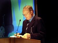 Ludwig Minelli, presidente dell'associazione svizzera Dignitas, al Terzo Congresso dell'associazione Coscioni.