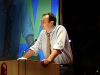 Pietro Paganini alla tribuna del Terzo Congresso dell'associazione Coscioni.
