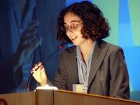Valentina Piattelli, consigliere generale Associazione Luca Coscioni, al terzo congresso dell'associazione Coscioni.