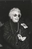 ritratto di Ada Rossi ad un congresso radicale (BN)
