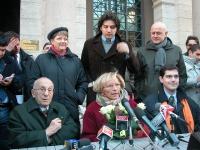 Conferenza stampa a piazza Santi Apostoli, sede dell'Unione dei Democratici, in vista di un ipotetico accordo elettorale dei radicali con il centrosin