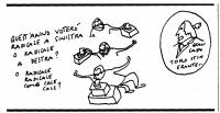 """VIGNETTA Didascalia: """"Quest'anno voterò radicale a sinistra o radicale a destra? O radicale radicale come cale cale?"""". Vignetta di Vincino, per """"Il Fo"""