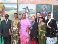 Emma Bonino, Gianfranco Dell'Alba e altri, alla cerimonia di apertura della Conferenza Sub-Regionalecontro le Mutilazioni Genitali Femminili. Altre di