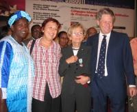 Lina Kilimo (ministro degli Interni del Kenya), Daniela Colombo, Emma Bonino, Gianfranco Dell'Alba alla Conferenza Sub-Regionale contro le Mutilazioni