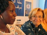 Emma Bonino alla conferenza stampa di presentazione  della Conferenza Sub-Regionale contro le Mutilazioni Genitali Femminili. (Sorride a????)