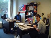 Marco Perduca e Matteo Mecacci nella sede americana del Partito Radicale.