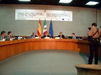 Conferenza nazionale per la ratifica dello statuto della corte penale internazionale. Vista del tavolo dei delegati, con Gianfranco Dell'Alba. Altre d