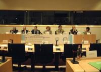 """Convegno al Parlamento Europeo: """"Le cellule staminali - Per la libertà di ricerca scientifica"""". Presiede (al centro): Olivia Ratti, Membro della Direz"""