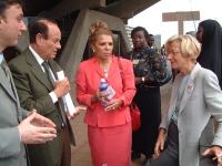 Emma Bonino con ???? . in occasione di una conferenza sulle mutilazioni genitali femminili.