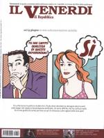 """VIGNETTA sulla copertina del """"Venerdì"""" di Repubblica. Un uomo: """"Tu hai capito qualcosa di questo referendum?"""". Una donna: """"SI'"""". Uscita nella settiman"""