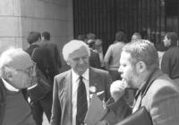 ritratto di Lipski, Adam e Stanzani alla conferenza sui diritti umani (BN)