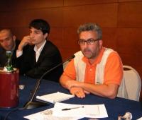 """Antonio Tombolini (nel corso dell'assemblea: """"Che fare?"""")."""