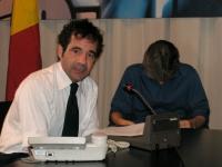 """Riccardo Arena (curatore della rubrica di Radio Radicale """"Radiocarcere"""") alla conferenza stampa per rilanciare la richiesta alle Camere di affrontare"""