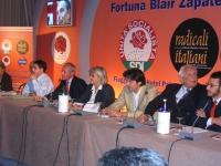 Convenzione SDI-Radicali. Tavolo di presidenza con Daniele Capezzone,  Boselli, Rita Bernardini, Marco Cappato, Marco Pannella, ??? Altre digitali.